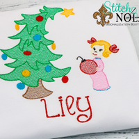 Personalized Christmas Tree with Green Monster & Cindy-Lou Who Sketch Shirt