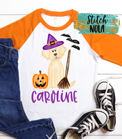 Personalized Dog Witch Printed Shirt