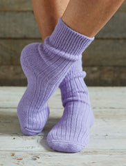 Alpaca Short Ribbed Socks