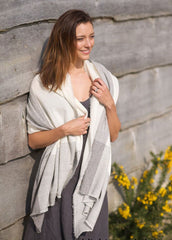 Cashmere Rugged Stripe Shawl
