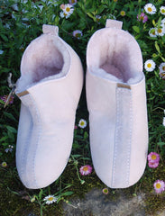Girls' Soft Sheepskin Slippers