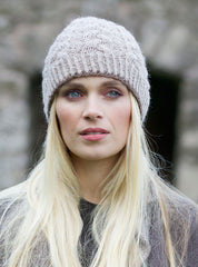 Hand Knitted Alpaca Cable Beanie