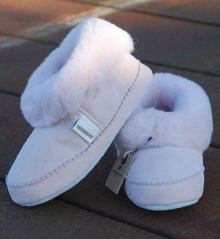 Children's Soft Sheepskin Slippers