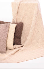 Hand Knitted Eco Wool Throws