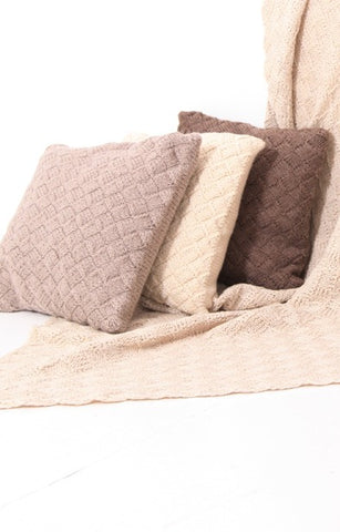 Hand Knitted Eco Wool Cushions