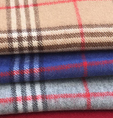 Plaid Alpaca Scarves