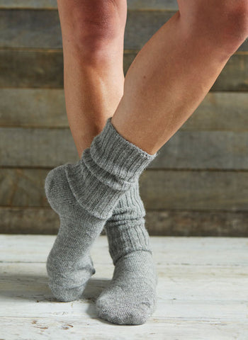 Alpaca Soft Topped Socks