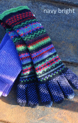 Fairisle Long Wrist Gloves