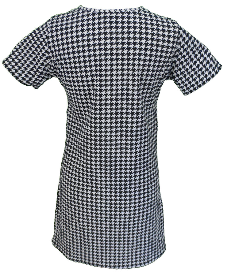 Love Her Madly Ladies 60s Retro Mod Vintage Mod Dogtooth Dress