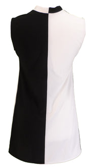 Ladies Retro Black and White Mod 2 Tone Dress