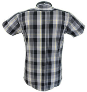 Relco Retro Black Tartan Ladies Button Down Short Sleeved Shirts … …