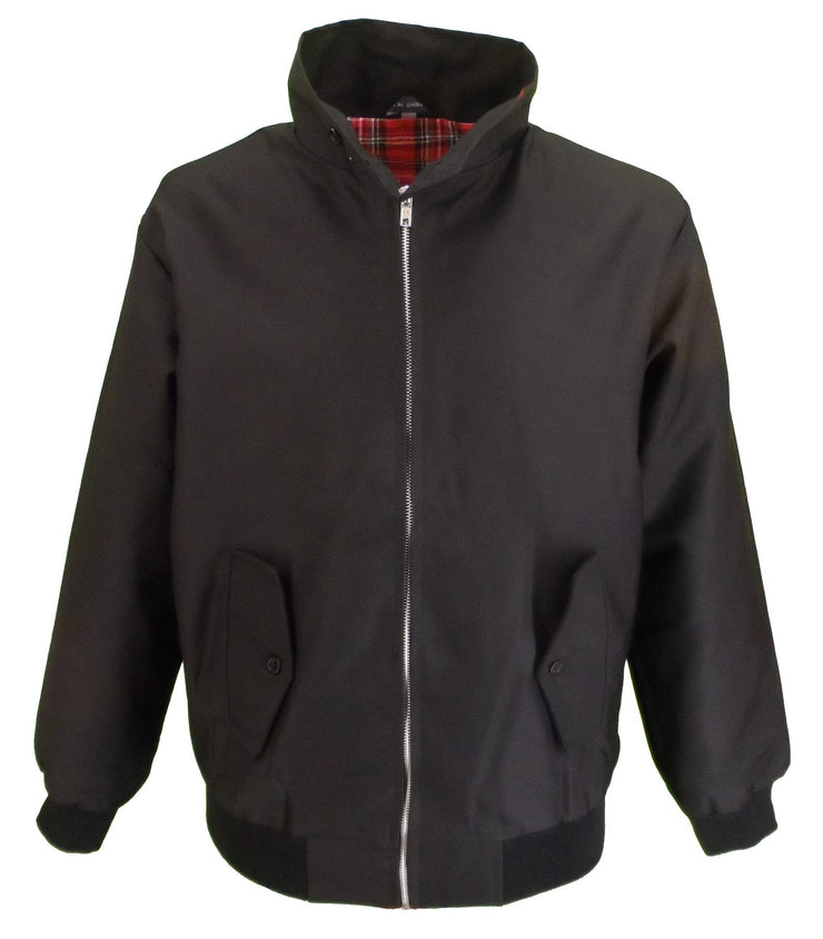 Ladies Classic Black Harrington Jackets