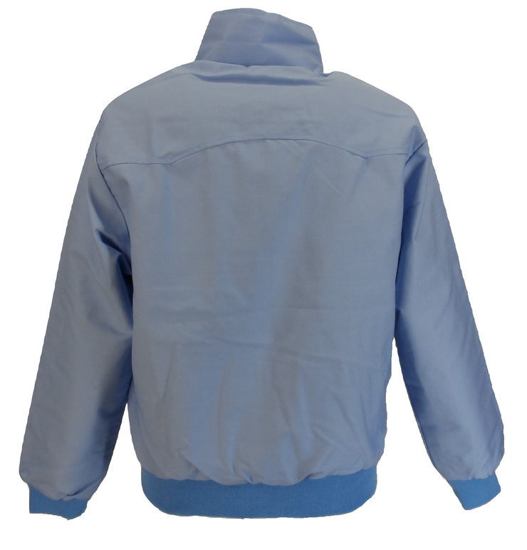 Ladies Classic Sky Blue Harrington Jackets