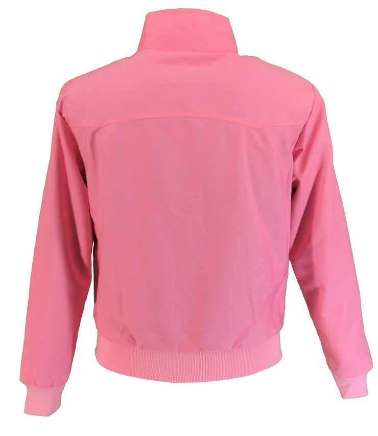 Ladies Classic Pink Harrington Jackets