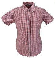 red gingham shirt womens