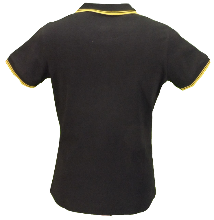 Trojan Records Ladies Black/Yellow Tipped Polo Shirts