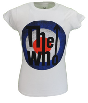Ladies Official Licensed The Who White Vintage Target T Shirts