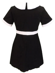 Ladies 60s Retro Mod Vintage Black Dress