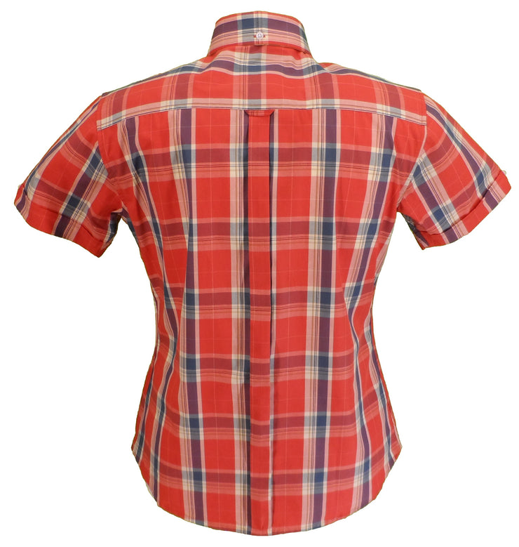 Relco Ladies Burnt Orange Button Down Short Sleeved Shirts
