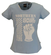 Stomp Ladies Powder Blue Norhern Soul Keep The Faith T Shirts