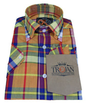 Trojan Records Ladies Gold Button Down Short Sleeved Shirts