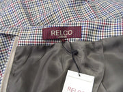 Relco Ladies Retro Rude Girl Beige Tweed Pencil Skirt