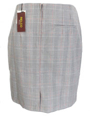 Relco Ladies Retro Rude Girl Prince of Wales Pencil Skirt