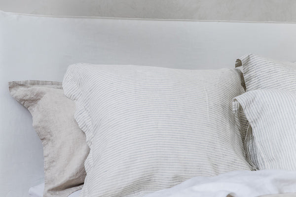 Linen Euro Pillowcase Pair