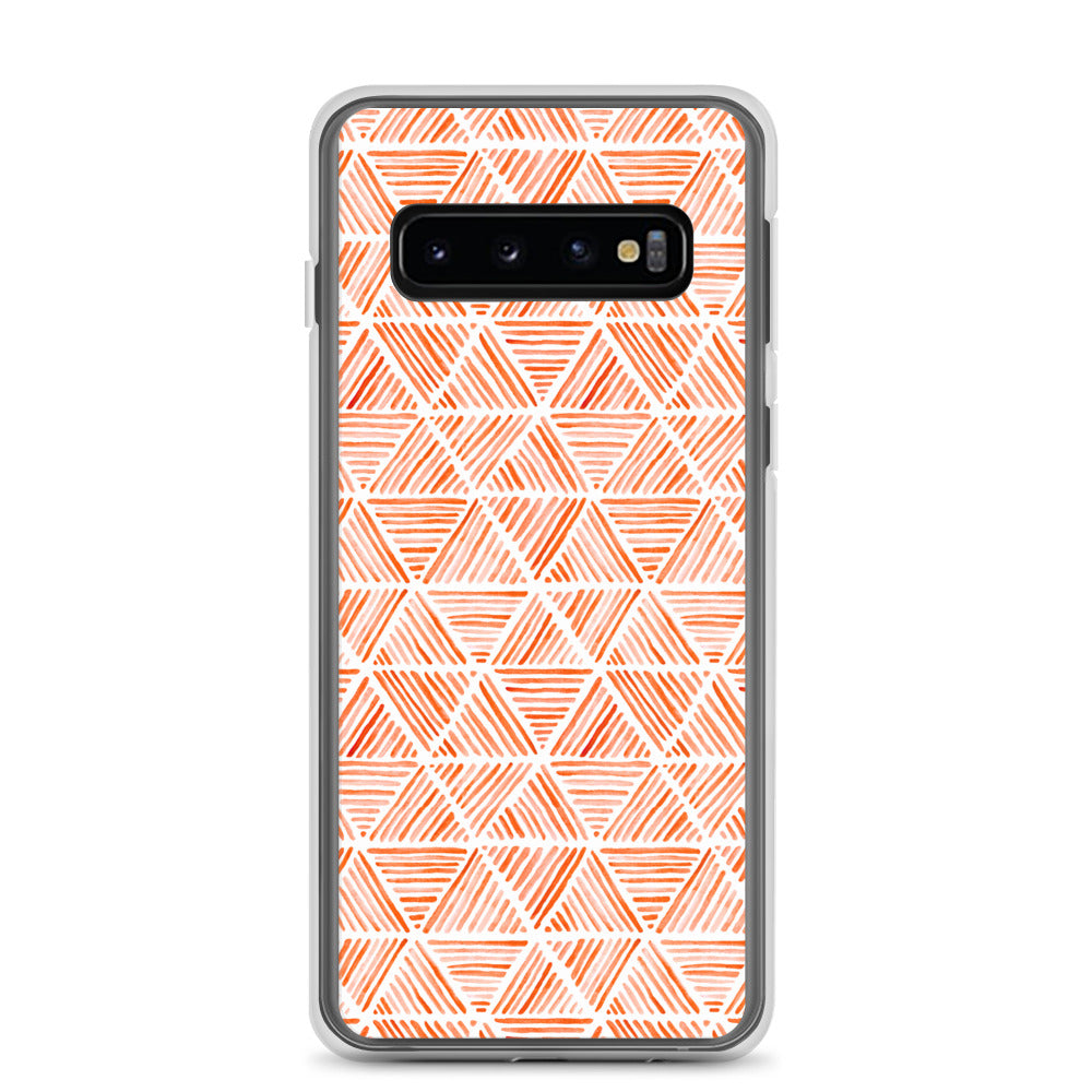 Orange Triangular Watercolor Pattern | Samsung Case