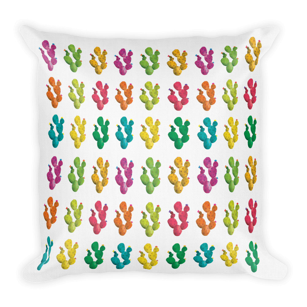 Pop Art Watercolor Cacti | Throw Pillow