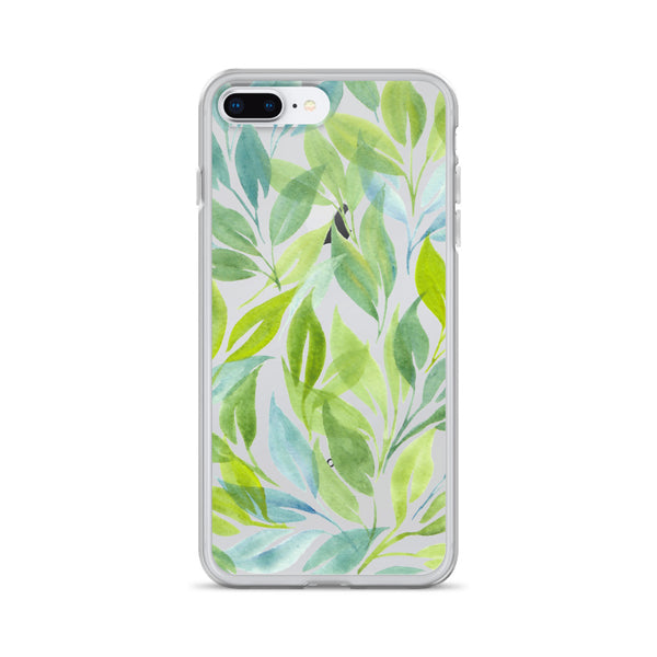 Watercolor Botanical Leaf Art | iPhone Case