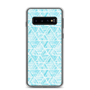 Light Blue Triangular Watercolor Pattern | Samsung Case