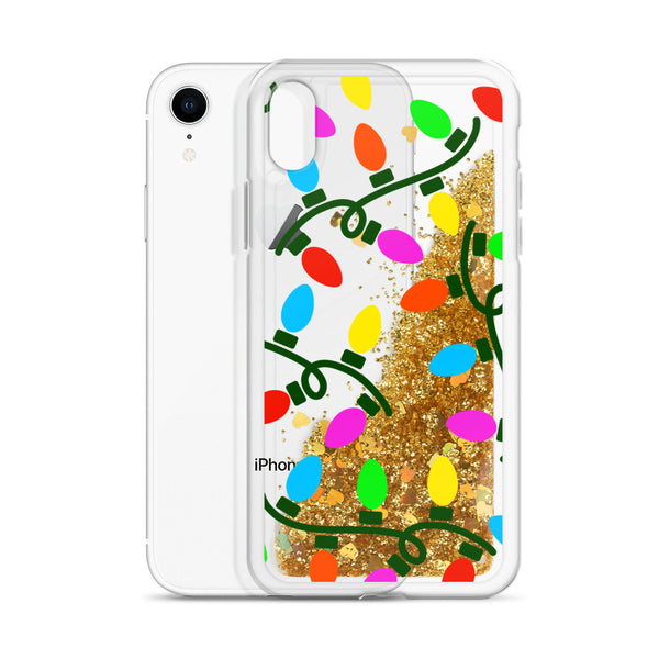 Holiday Lights | Liquid Glitter iPhone Case