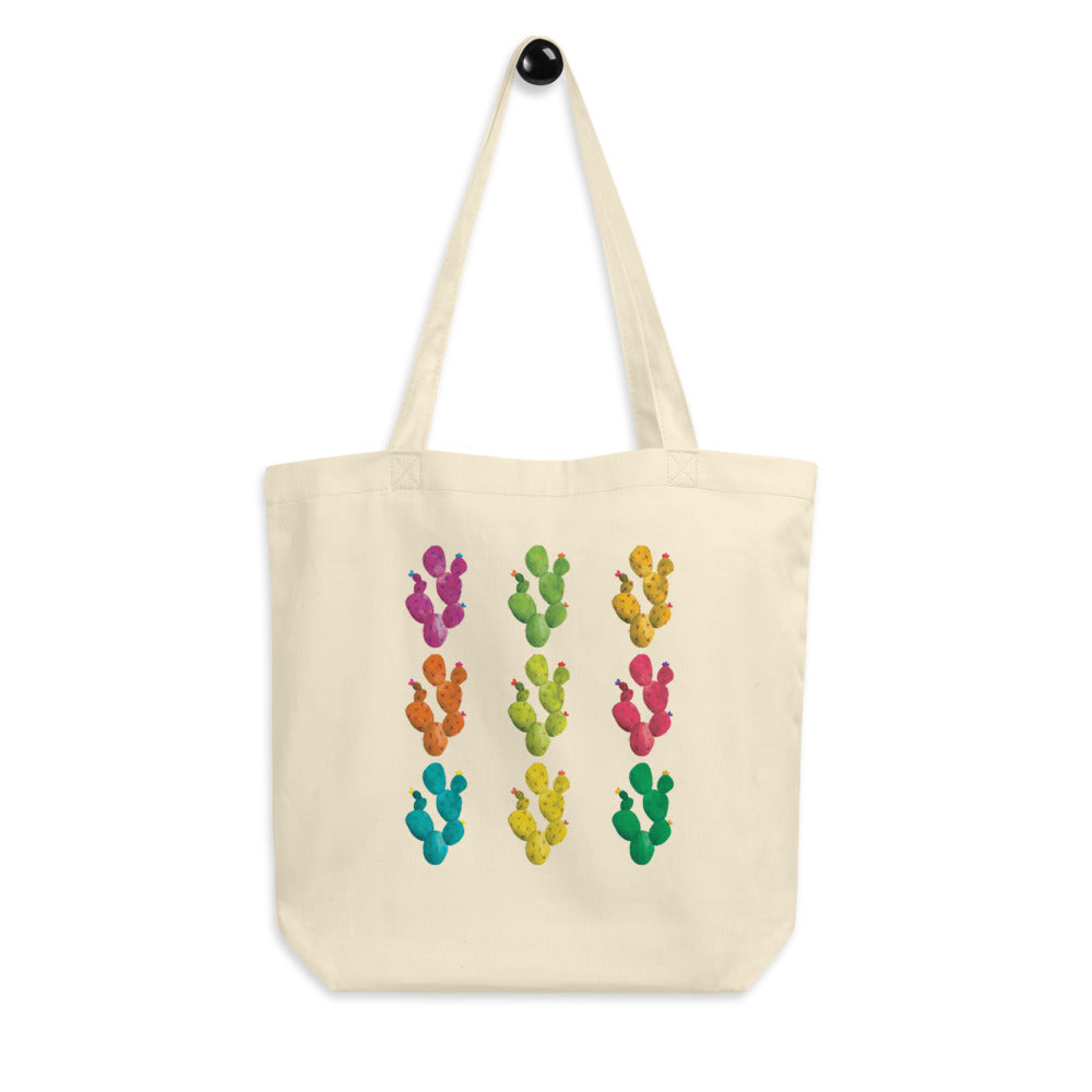 Pop Art Watercolor Cacti | Organic Cotton Tote Bag