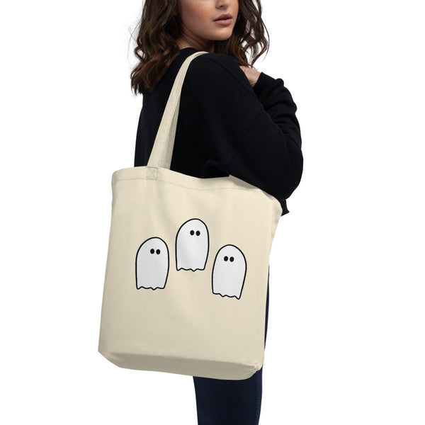 Halloween Ghosties | Organic Cotton Tote Bag