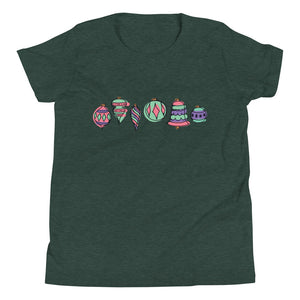 Festive Ornaments | Youth Short Sleeve T-Shirt
