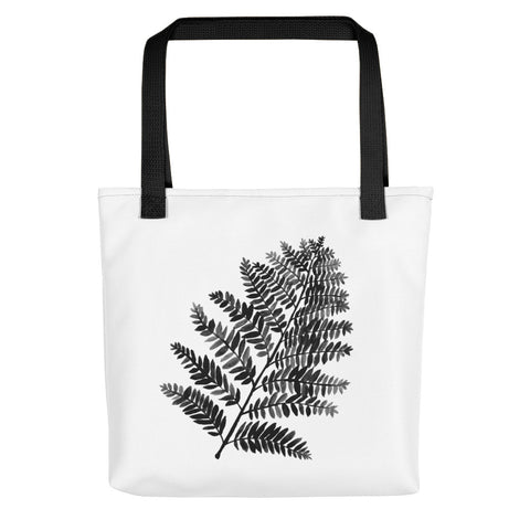 Black & White Watercolor Fern | Tote Bag