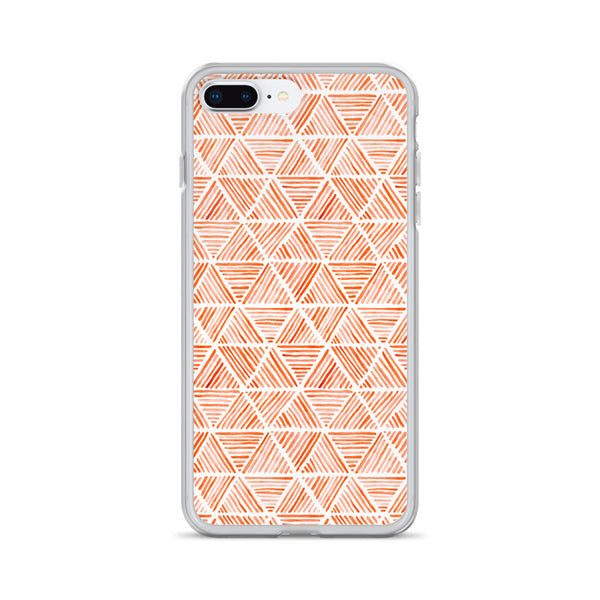 Orange Triangular Watercolor Pattern | iPhone Case