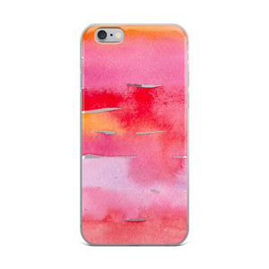 Reds Watercolor Painting // iPhone Case