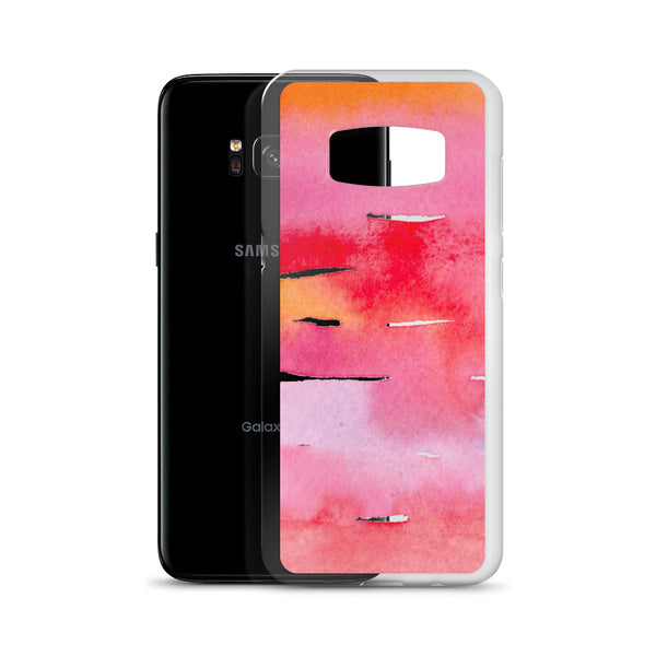 Red Watercolor Stripes | Samsung Case