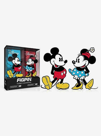 Glitter Mickey and Minnie Mouse 2020 ECCC Exclusive FigPin Set (#367 & #368)
