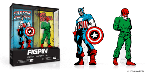 Captain America & Red Skull 2020 ECCC Exclusive FigPin Set (#338 & #339)