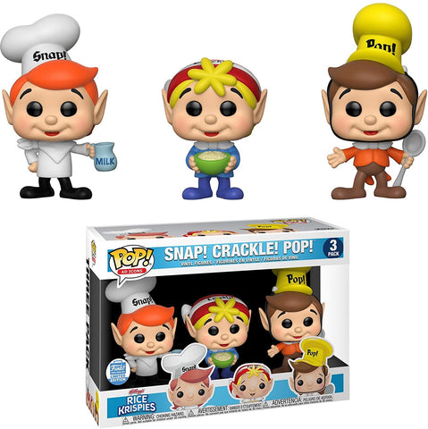 Snap! Crackle! Pop! 3 Pack Funko Exclusive