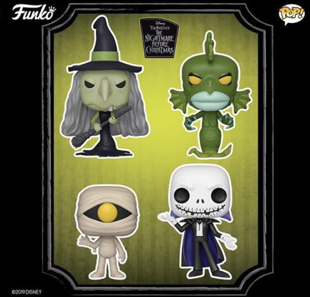 NIGHTMARE BEFORE CHRISTMAS COMPLETE SET OF 4