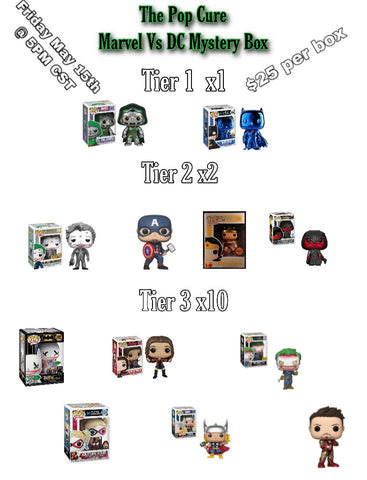 The Pop Cure Marvel Vs Dc Mystery Box