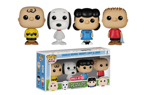 Charlie Brown, Snoopy, Lucy & Linus Target Exclusive 4PK