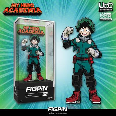 Deku Figpin UCC/LACC Exclusive Autographed by Justin Briner
