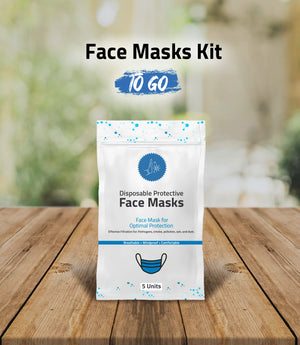 Disposable Mask Protection Kit TO GO, pack of 5