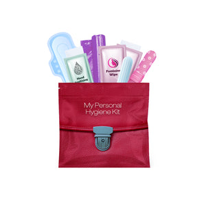 Feminine Hygiene Kit Red Purse