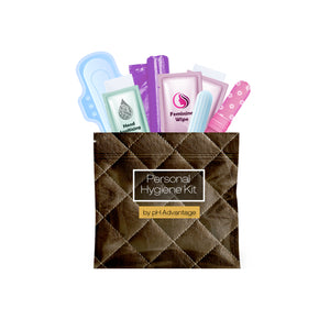 Feminine Hygiene Kit Leather Dark